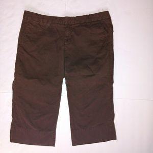 Cute brown GAP Capri pants size 12